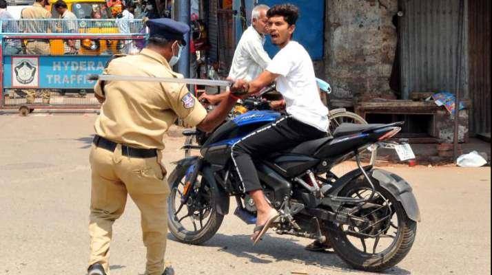 Police Beating Bikers