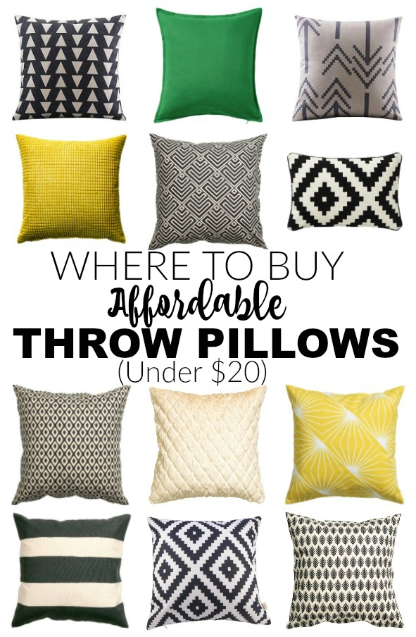 The best sources for affordable throw pillows
