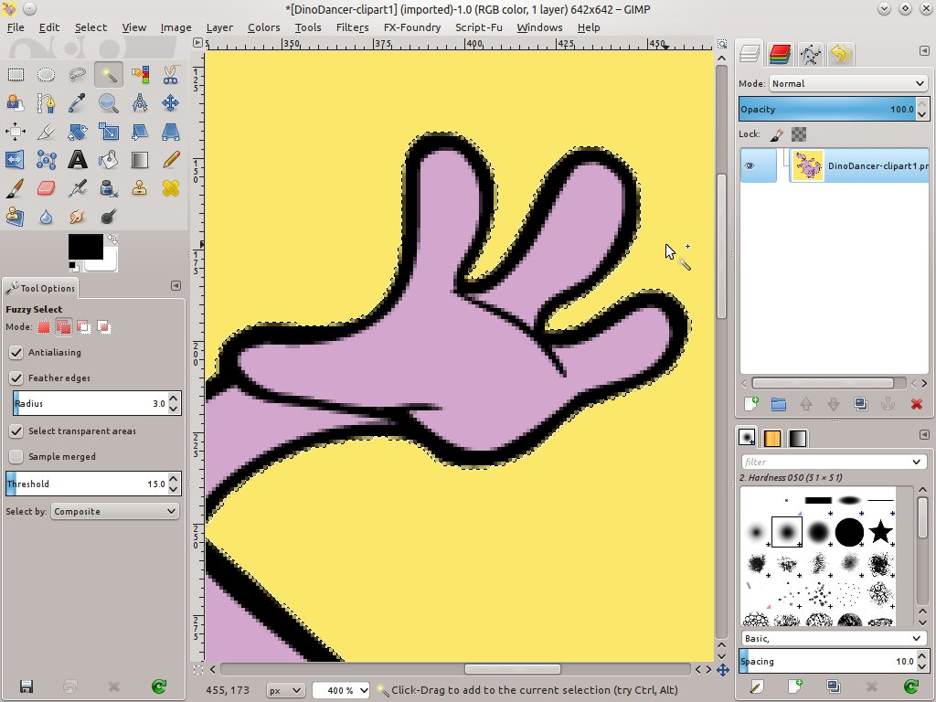How to remove the background from an image using the Gimp