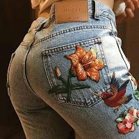 Como renovar tus viejos jeans y otras prendas con flores GUCCI