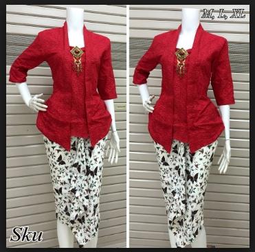 Kreasi Baju Batik Wanita Kombinasi Lengan Panjang Modern Terbaru
