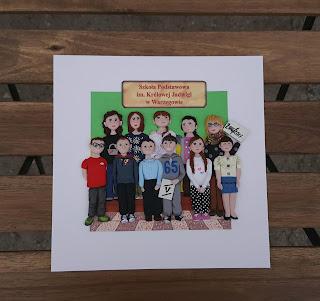 dzieci, kids, children, prezent, koniec roku szkolnego, dla nauczyciela, for teacher, framed, obraz,