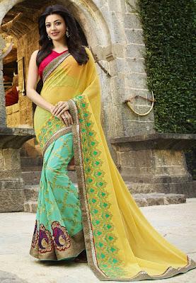 Buy designer sarees - Kajal Agarwal