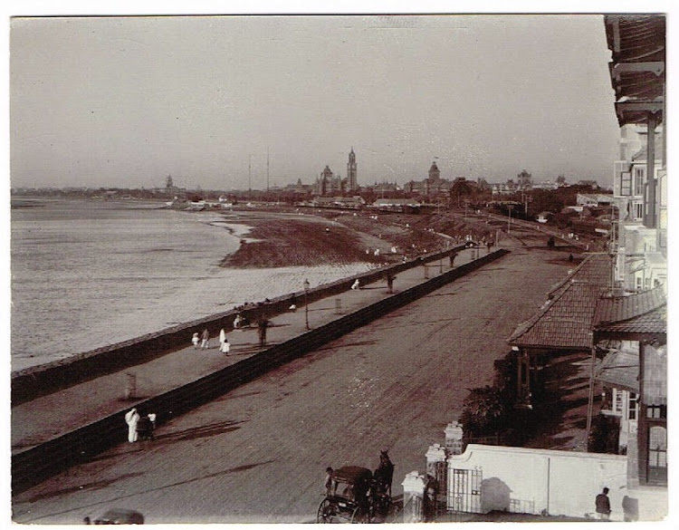 View from Colaba Reclamation - Bombay (Mumbai) c1905