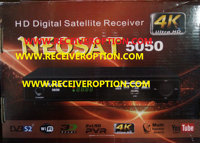 NEOSAT 5050 HD RECEIVER AUTO ROLL NEW SOFTWARE BY USB