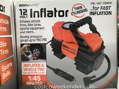 Quickly inflate tires with the Bon-Aire 12 Volt Inflator TC12C