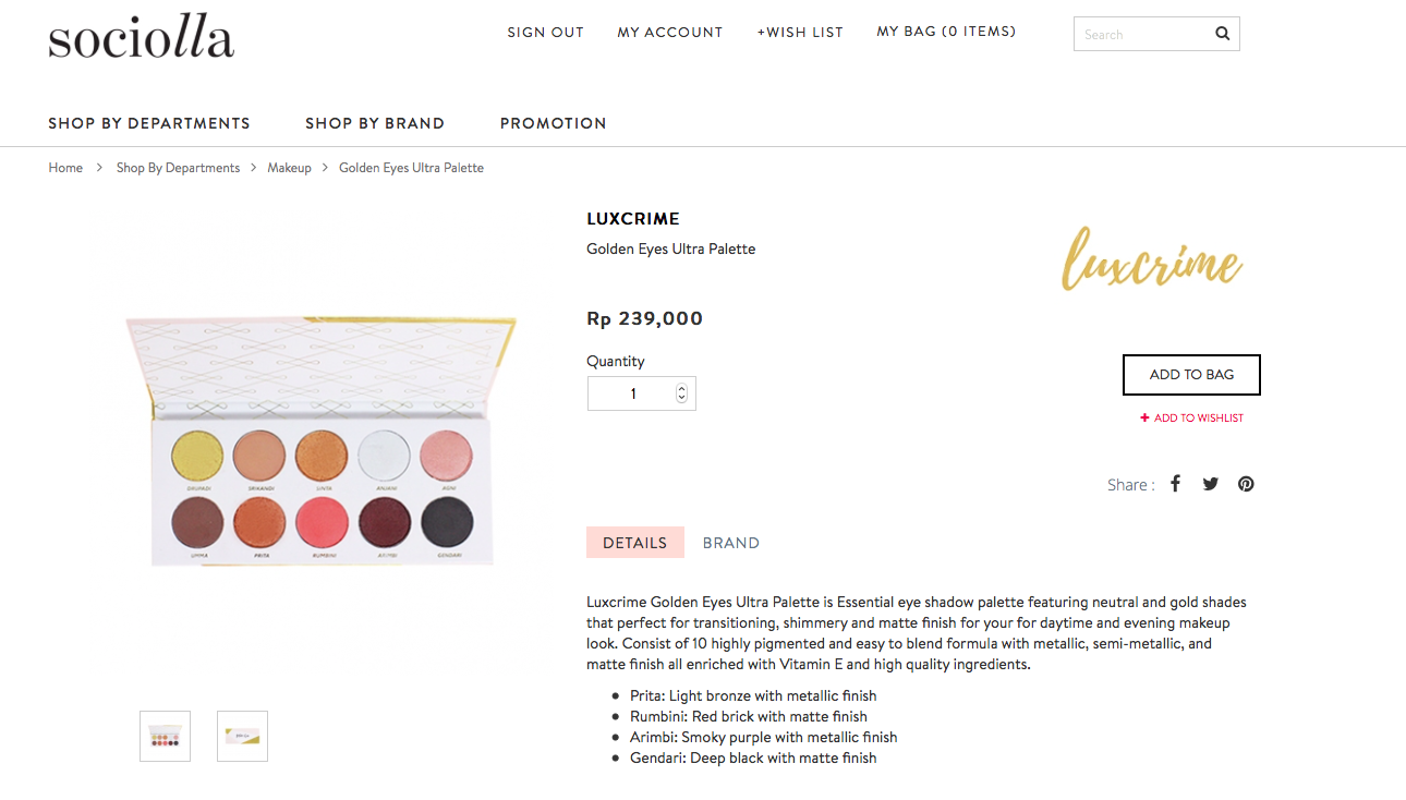Wishlist Hip And Happening Local Brands Pink Undecided Luxcrime Ultra Satin Lipstick Right Time 01 Golden Eyes Palette