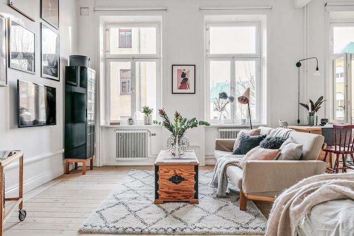 Como dar un aspecto juvenil y romántico a un apartamento antiguo, salón