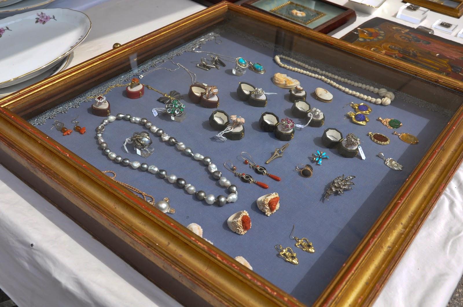 Jewellery, Antiques market, Piazzola sul Brenta, Veneto, Italy