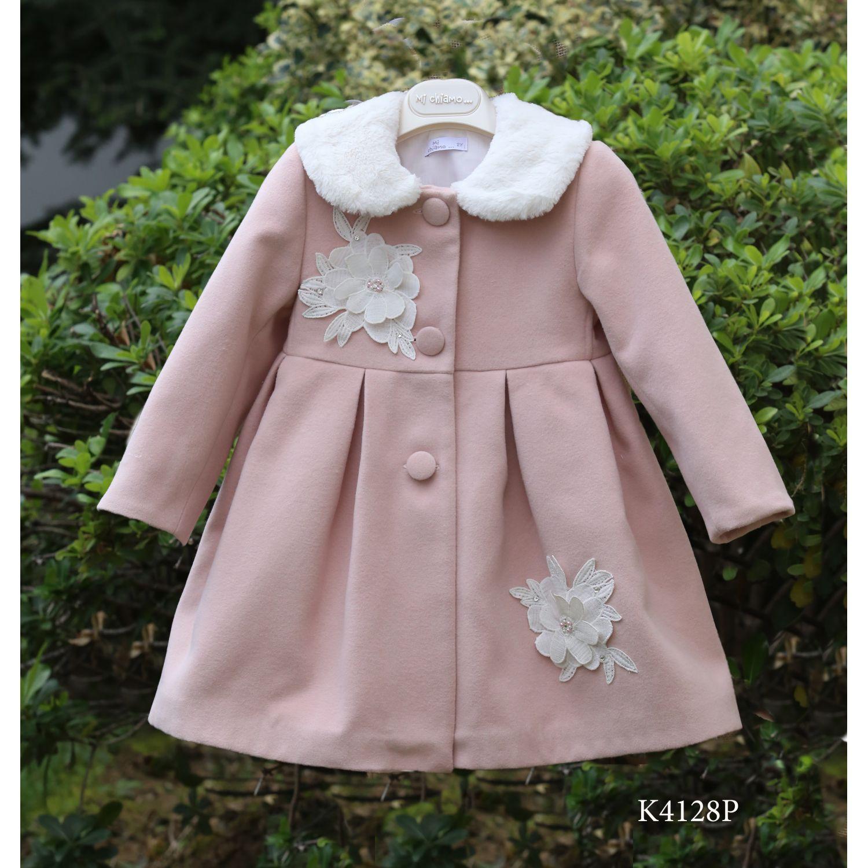 Pink baptismal coat for girls K4128p