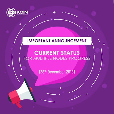 Status Terkini Multiple Nodes Progres