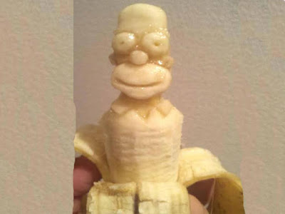 Homer Simpson banana carving pictures