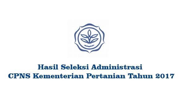 Hasil Kelulusan Seleksi Administrasi CPNS Kementerian Pertanian Republik Indonesia