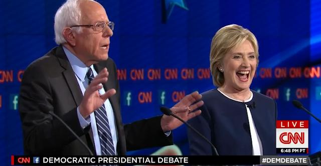 Bernie Sanders enough with the damn e-mails Hillary Clinton cackling CNN debate