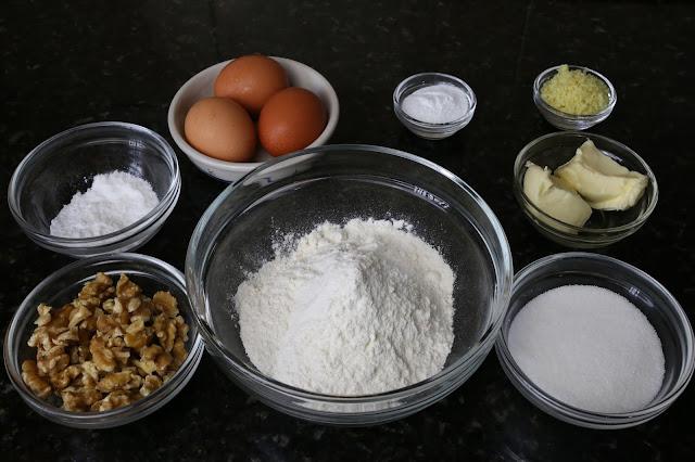 Ingredientes para bizcocho sevillano