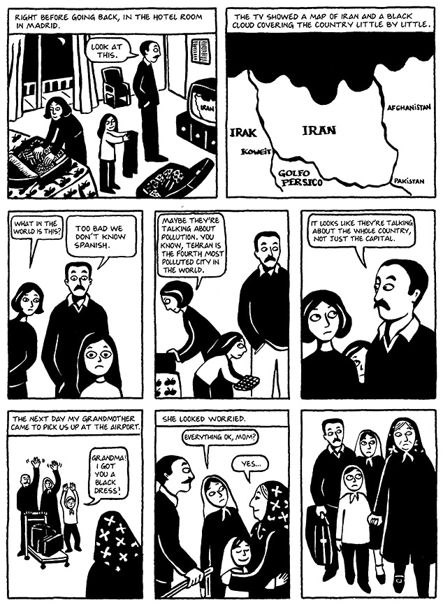 Read Chapter 10 - The Trip, page 76, from Marjane Satrapi's Persepolis 1 - The Story of a Childhood