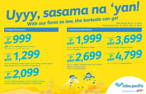 Cebu Pacific Seat Sale 2017