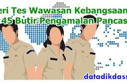Materi Tes Wawasan Kebangsaan (TWK) 45 Butir Pengamalan Pancasila