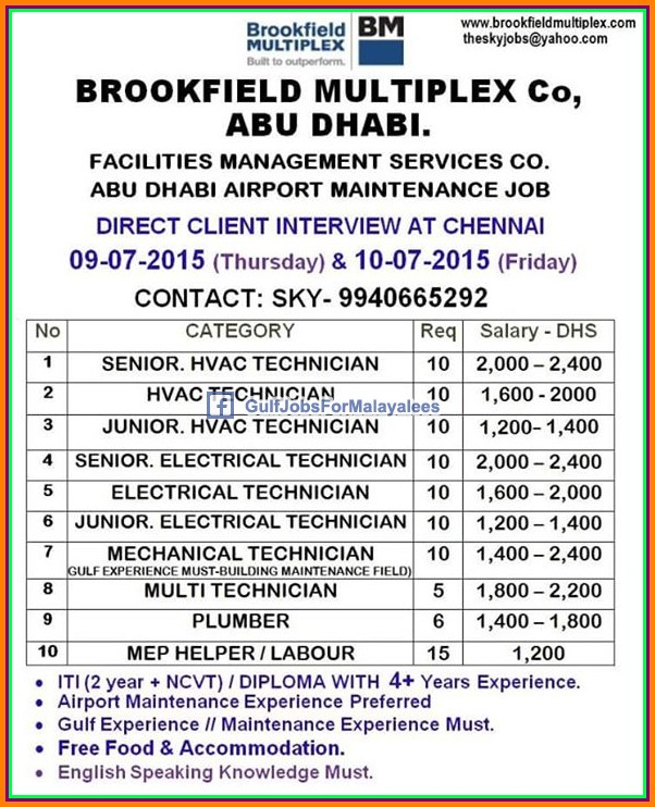 Abudhabi Airport job vacancies - Gulf Jobs for Malayalees