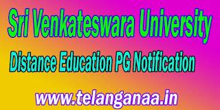 Sri Venkateswara University Distance Education PG Notification
