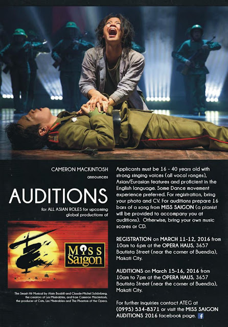 Miss Saigon opens its doors to potential talents.