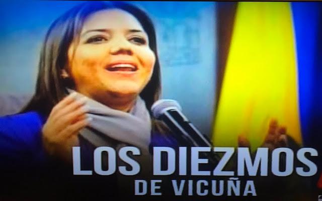María Alejandra Vicuña acusada de exigir dinero a colaboradores