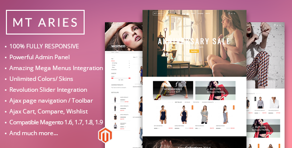 fashion shop magento template