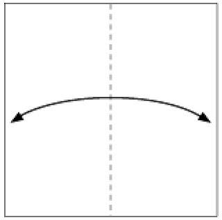 Bước 1: Gấp tạo nếp gấp tờ giấy