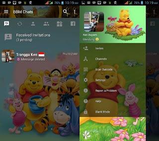BBM Mod Winnie The Pooh Apk
