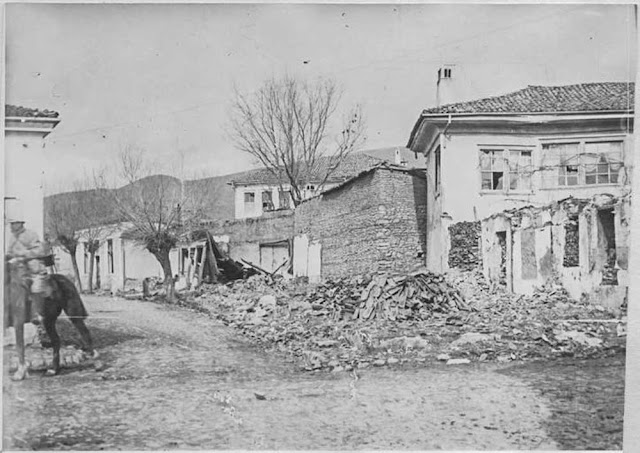 In the streets of Bitola (Monastir) (March 1917). Ruins in the center of the city