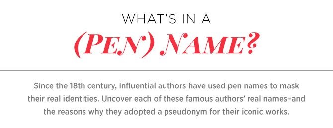 PEN NAME GENERATOR ~ P S  I love that book!