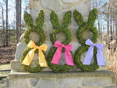 Bunny Wreath on Etsy