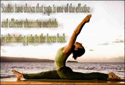 Yoga is one of the effective and efficient alternative methods in eliminating pain in the lower back. Even in this case the yoga applied independently without the use of drugs for pain. Suffice it to consult with a trainer yoga exercises related or visit some of the yoga centres.