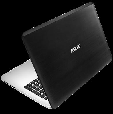 Tampilan desain laptop Asus