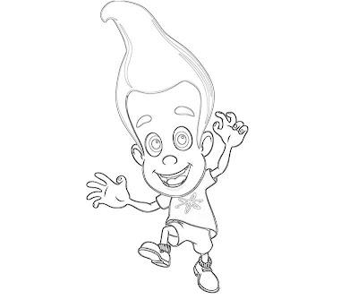 Jimmy Neutron Boy Genius Coloring Pages