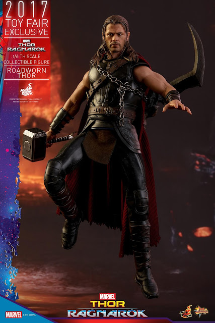 osw.zone Hot Toys Toys Exclusive Thor: Ragnarok 1 / 6. Scale Roadworn Thor 12-inch collector figure