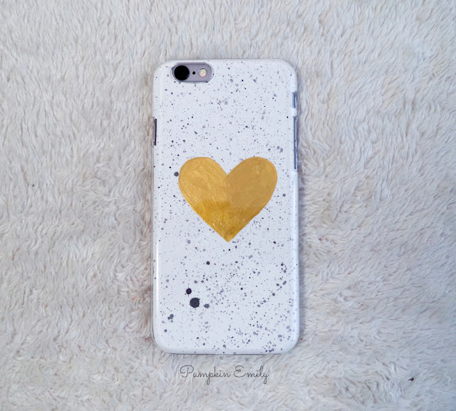 Tumblr DIY Paint Splattered Phone Case