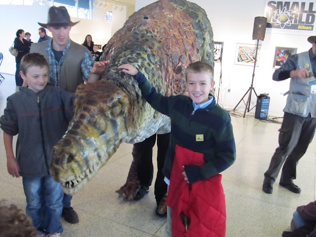 Learning about  dinosaurs in NJ