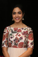 Ritu Varma smiling face Cream Anarkali dress at launch of OPPO New Selfie Camera F3 ~  Exclusive 019.JPG