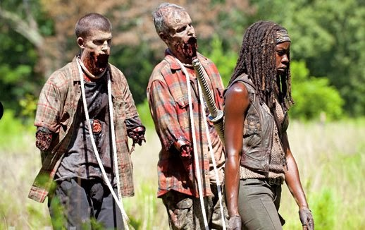 Spoilers involving Michonne on The Walking Dead