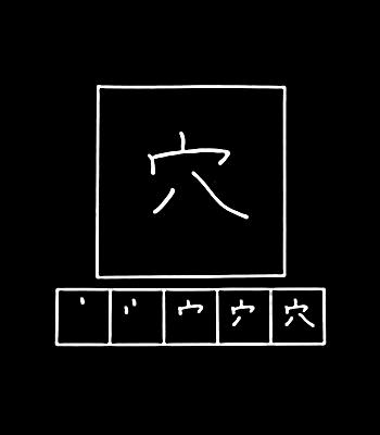 kanji hole