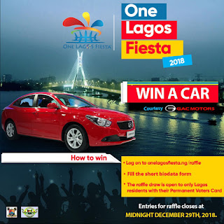 2018 One Lagos Fiesta (OLF) Raffle Draw Guidelines | Win a Car