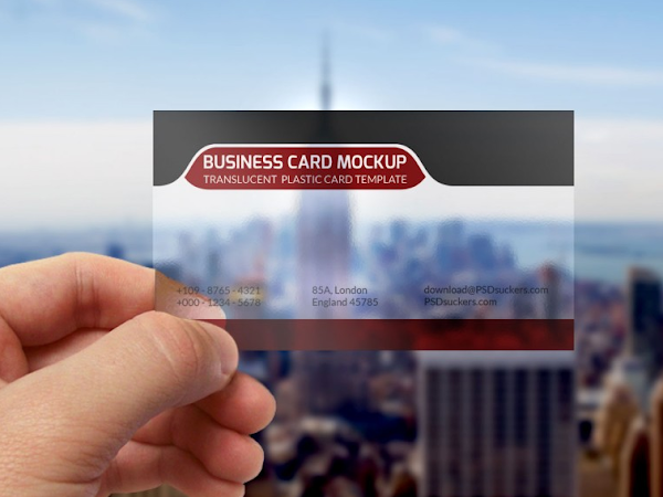 Download Transparent BusinessCard Mockup PSD Free