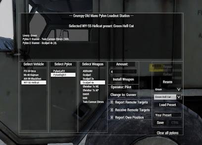 Arma 3 内で兵装を変更できる GOM_fnc_aircraftLoadout スクリプト
