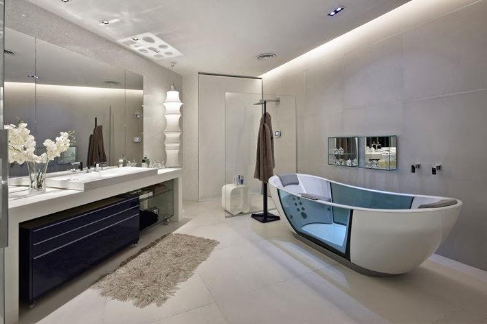 Diseño de baño futurista