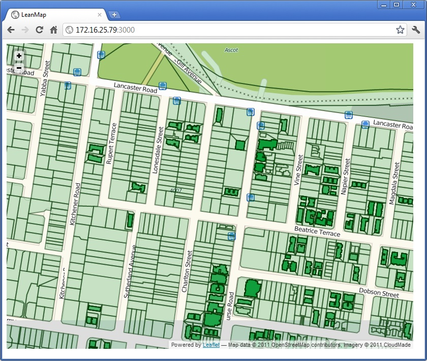 Node js + Express + Leaflet + PostGIS = Awesome Maps