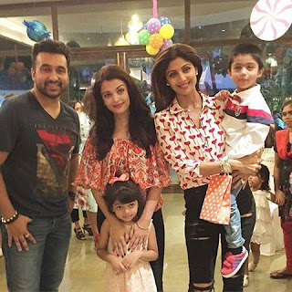 Aishwarya Rai and Shilpa Shetty Kundra with their little childrens
