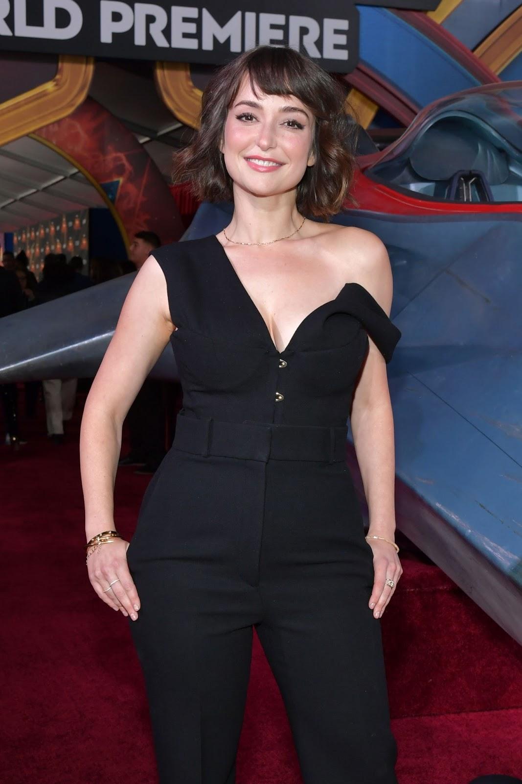 Milana Vayntrub at the Captain Marvel Premiere in Hollywood, CA - 03/04/2019