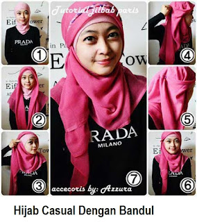 Anggun dengan hijab bandul model terbaru