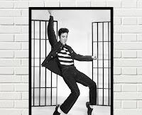 Cuadro vintage Elvis bailando
